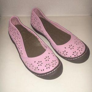 MUK LUKS Womens Sz 10 Pink Slip On Ballet Flats